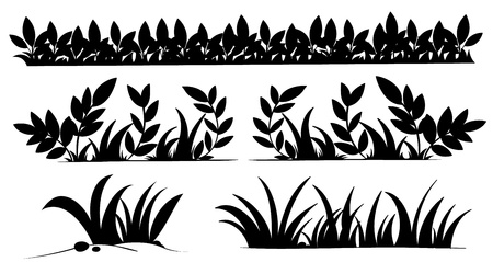 grass blades: Illustration of grass silhouettes