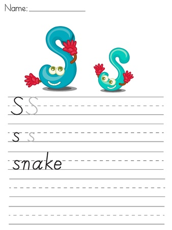 worksheet: Illustration of alphabet series worksheet - letter U