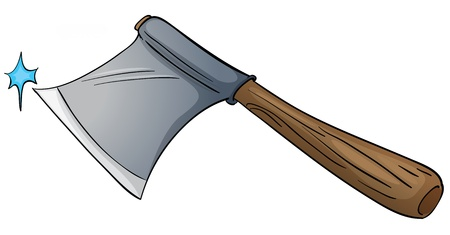 scrambling: Illustration of an isolated axe Illustration