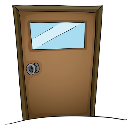 Illustration of an isolated door