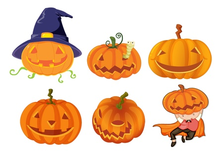 Illustration of halloween objects Vector