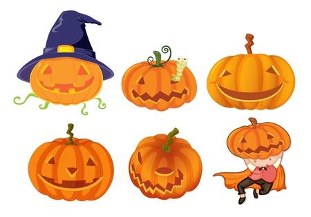 Illustration of halloween objects Vector