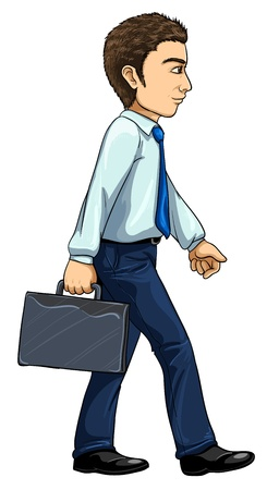 Illustration of modern man from evolution series Vector