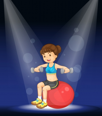 Illustration of performer on a stage Vector