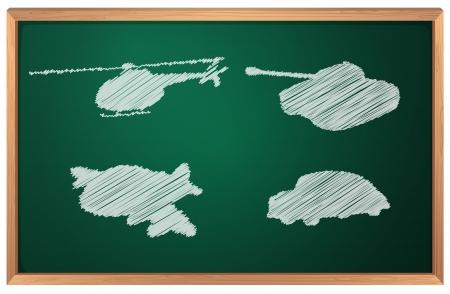 Illustration of transportation in chalk Stock Vector - 13930727