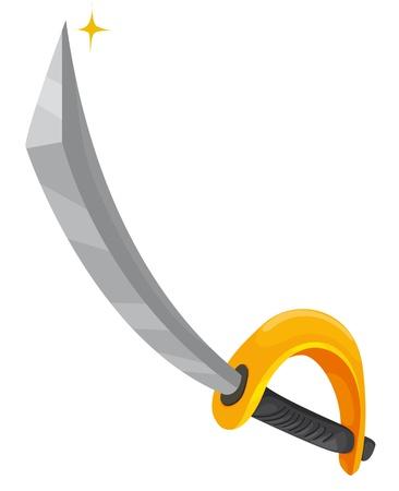 Illustration eines Piraten Schwert
