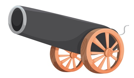 cannon ball: Illustration of an old cannon