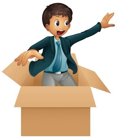 slacks: Illustration of an animated business man on white