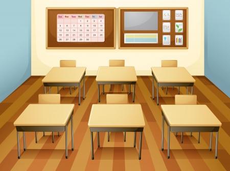 sgabelli: illustrazione di una classe vuota