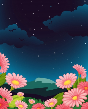 Illustration of an empty flower background Stock Vector - 13935168