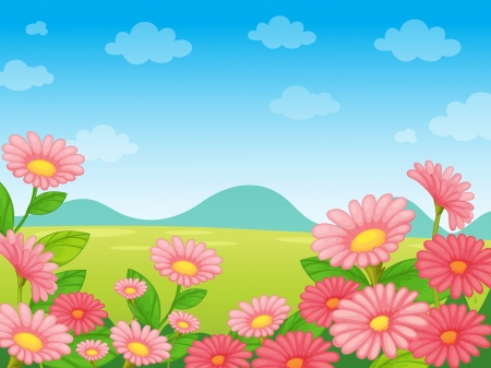 Illustration of an empty flower background Stock Vector - 13935192