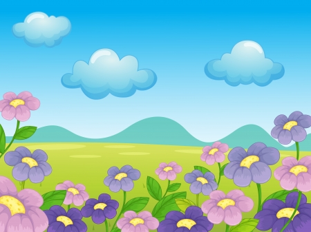 Illustration of an empty flower background Stock Vector - 13935178