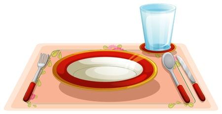 fork glasses: illustrazione di una tavola apparecchiata