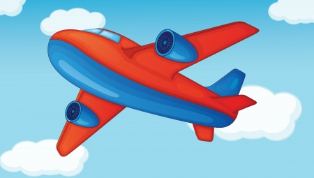 plane on a blue sky background Vector