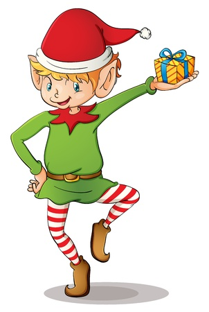 Illustration of a Christmas elf Illustration