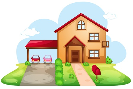 family car: Illustration of a standard house Illustration