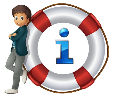 Illustration of boy and information icon Stock Vector - 13974840