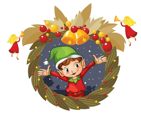 Illustration of  a christmas wreath Vector