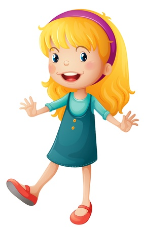Illustration of a cute little girl Vector