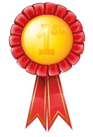 recognize: Illustration of a gold medal Illustration