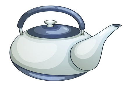 kettle: Illustration of a ceramic teapot