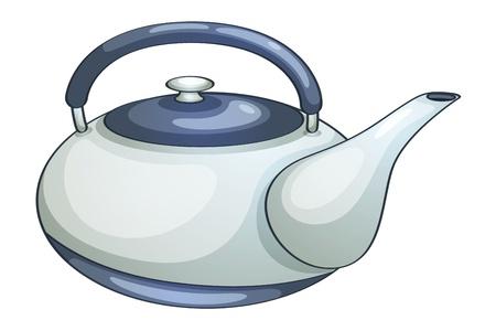 kettles: Illustration of a ceramic teapot