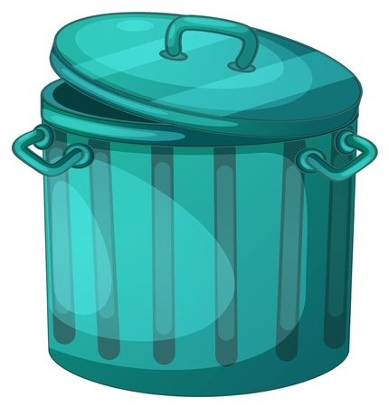 garbage bin: Illustration of a trash can