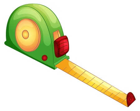 tape measure: Illustration of a tape measure