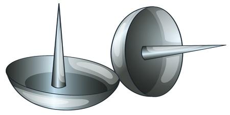 tachuelas: Ilustraci�n de 2 chinchetas