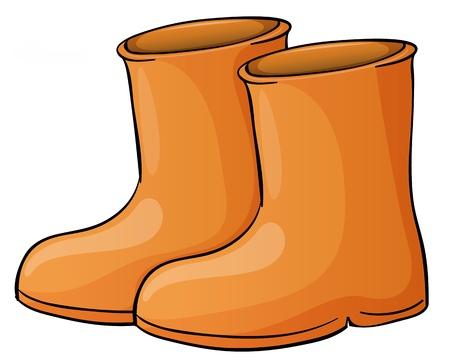 rubberboots: Illustration eines pait Stiefel