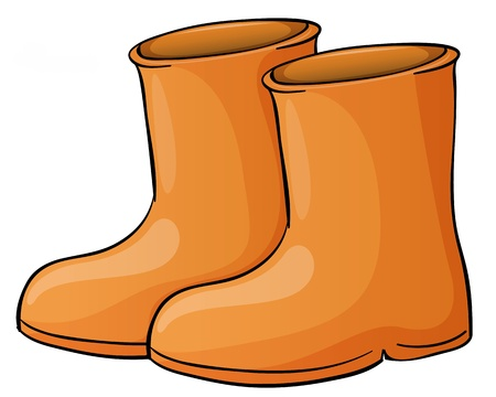 Illustration of a pait of boots Stock Vector - 13988383