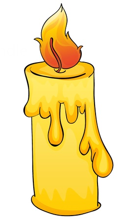 Illustration of a simple candle