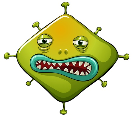 Illustration of an ugly virus Vector