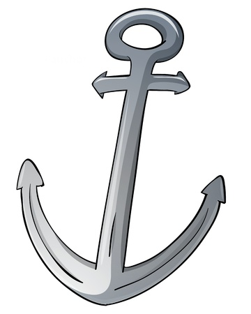 Illustration of an isolated anchor Vector