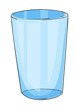 shot glass: Illustration of a glass on white