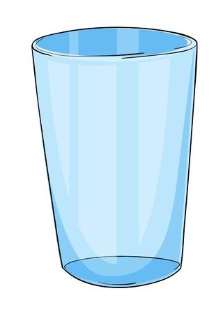 WATER GLASS: Illustrazione di un vetro su bianco Vettoriali
