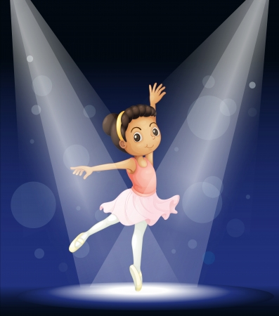 Illustration of a ballerina dancing Vector