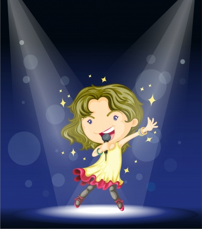 Illustration of dancing with stars Vector