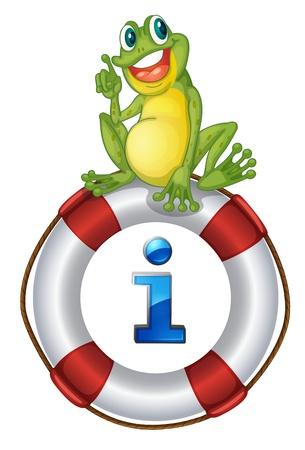 point i: Illustration of a frog on a sign