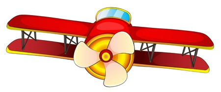 illustration of an aircraft on a white background Vector
