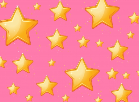 small group of objects: illustration of twinkling stars on pink background