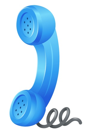 phone us: Illustration of a telephone symbol