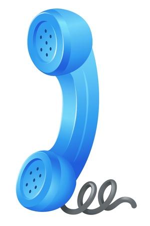 hablar por telefono: Ilustraci�n de un s�mbolo de tel�fono