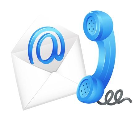 contact icon: Illustratie van een e-mail icoon Stock Illustratie