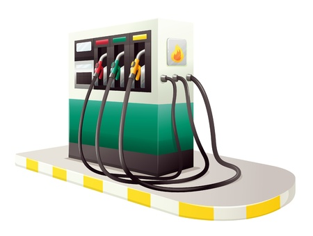 dispensing: illustration of petrol dispensing unit on a white background Illustration