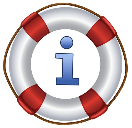 ring buoy: a closeup picture of lifebuoy on a white background