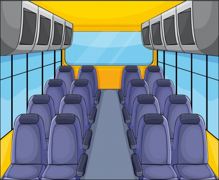 illustration of vehical seat arrangementand inside view Vector