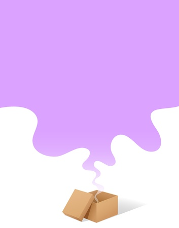 vapour: illustration of fumes coming out from a box