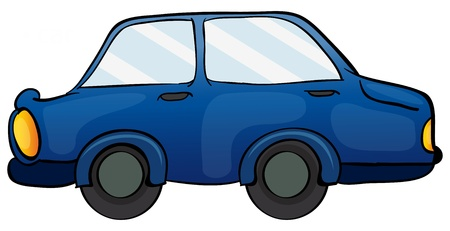 yeloow: illustration of a car on a white background