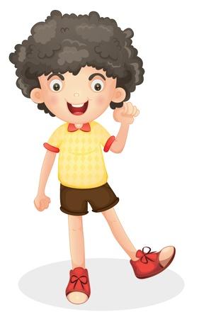 ilustración de un niño en un fondo de color blanco Ilustración de vector